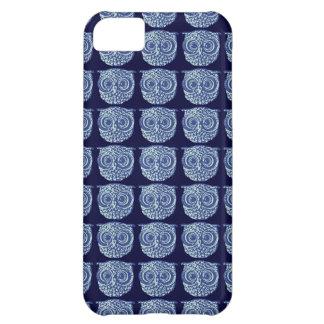 青くかわいいフクロウの写真 iPhone5Cケース