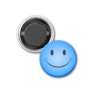 青くにこやかな磁石 マグネット