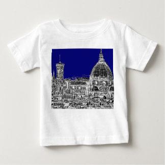 青くイタリアンなカテドラル ベビーTシャツ