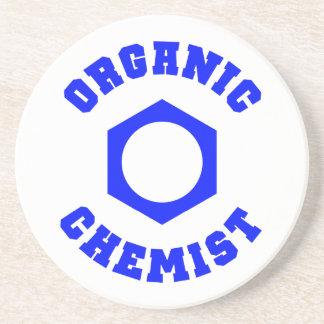 青くオーガニックな化学者のコースター 飲み物用コースター