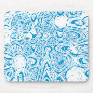 青くオーガニックな抽象芸術 マウスパッド