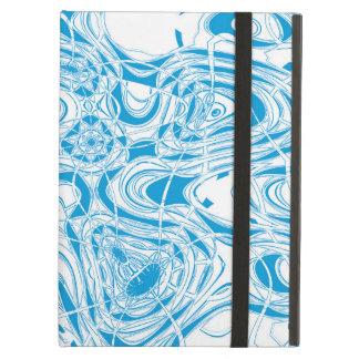 青くオーガニックな抽象芸術 iPad AIRケース