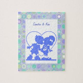 青くキスをするな子供のパズル ジグソーパズル
