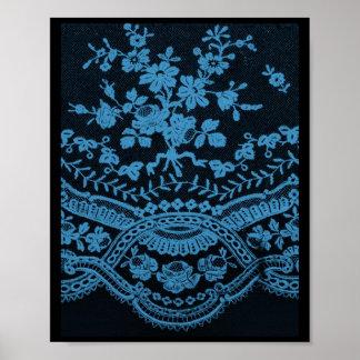 青くグランジなレース ポスター