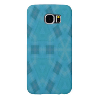 青くスタイリッシュな芸術 SAMSUNG GALAXY S6 ケース