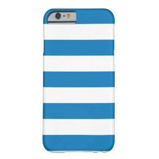 青くストライプのなiPhone6ケース Barely There iPhone 6 ケース