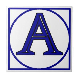青くフランスのな手紙の屋家番号のタイル タイル
