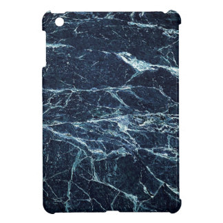 青くモダンな大理石パターン iPad MINIケース