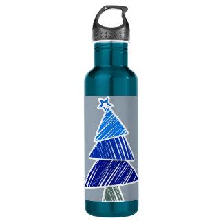 青く不完全なクリスマスツリー ウォーターボトル