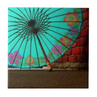 青く中国のな傘 タイル