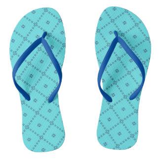 青く写実的でかわいいデザイン ビーチサンダル