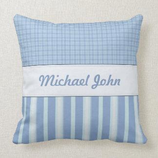 青く名前入りな赤ん坊の養樹園の枕 クッション