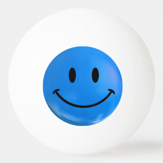 青く幸せで悲しくにこやかなBiの北極のピンポン球 卓球ボール