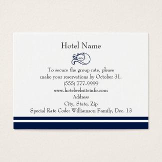 青く幸せな猫のホテルの予約 チャビ―名刺