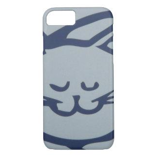 青く幸せな猫の睡眠 iPhone 8/7ケース