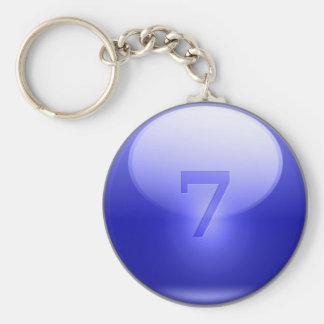 青く幸運な7 キーホルダー