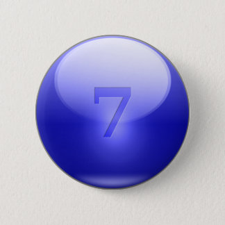 青く幸運な7 5.7CM 丸型バッジ