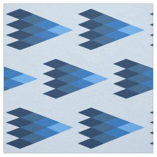 青く幾何学的なパターン生地 ファブリック