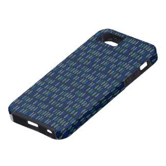 青く暗いiPhoneの箱の葉のデザイン iPhone SE/5/5s ケース