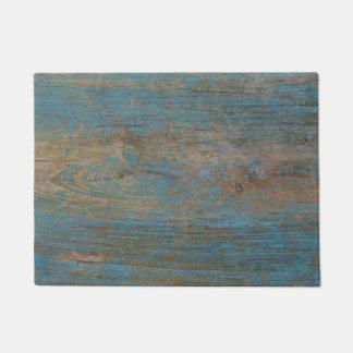 青く模造のなビーチ木質 ドアマット
