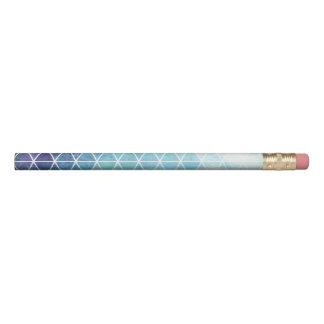 青く汚く幾何学的な三角形のデザイン 鉛筆