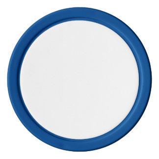 青く無地のな端が付いているポーカー用のチップ ポーカーチップ