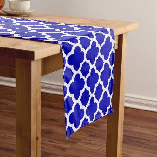青く白いクローバー ショートテーブルランナー