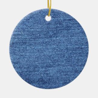 青く白いデニムの質の一見のイメージ セラミックオーナメント