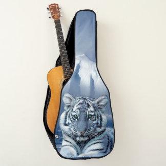 青く白いトラ ギターケース