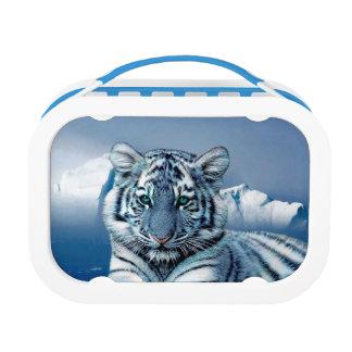 青く白いトラ ランチボックス