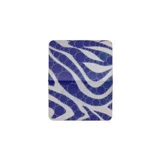 青く白い円のシマウマの抽象芸術 名刺入れ