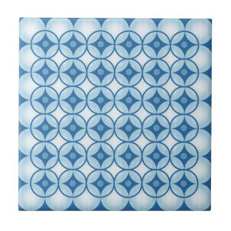 青く白い円 タイル