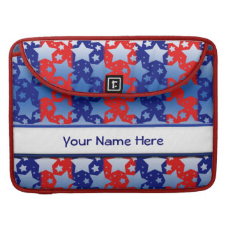 青く白い星の赤い青い縞 MacBook PROスリーブ