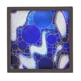 青く白い波状の抽象芸術 ギフトボックス