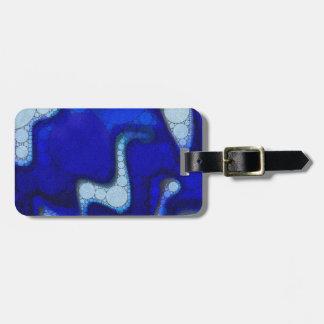 青く白い波状の抽象芸術 ラゲッジタグ