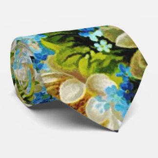 """青く白い緑の花""""灯台ルート首タイ"""" ネックウェアー"""