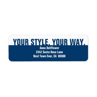 青く白くモダンでシンプルな流行仕掛け人ビジネスA2 ラベル