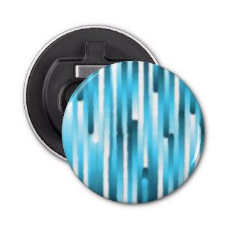 青く白く小さくストライプな円形のオープナ 栓抜き