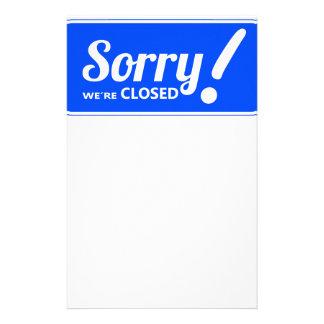 青く白く残念な印私達は閉鎖しています 便箋