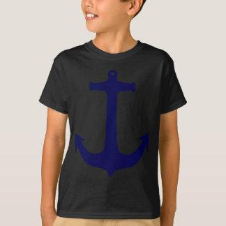 青く航海のないかりパターン Tシャツ