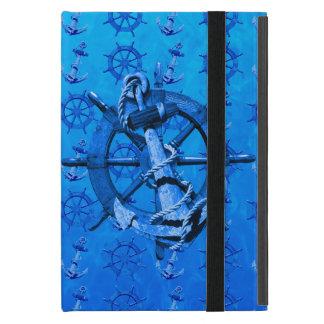 青く航海のな船車輪およびいかり iPad MINI ケース
