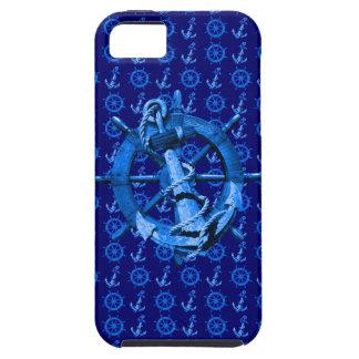 青く航海のな船車輪およびいかり iPhone SE/5/5s ケース