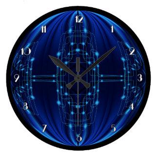 青く軽い技術の柱時計 ラージ壁時計