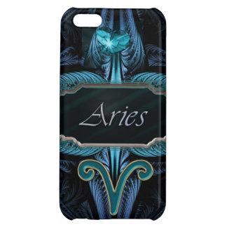 青く輝くなハートの牡羊座の(占星術の)十二宮図の占星術のな印 iPhone5Cケース