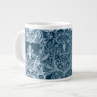 青く透明なクリスマスツリーの骨灰磁器のマグ ジャンボコーヒーマグカップ