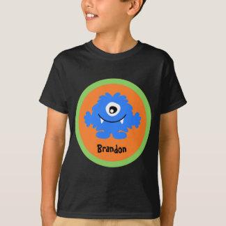 青く間抜けなモンスターの名前入りなTシャツ Tシャツ