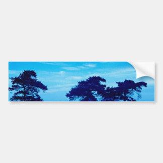 青く霧深い朝 バンパーステッカー