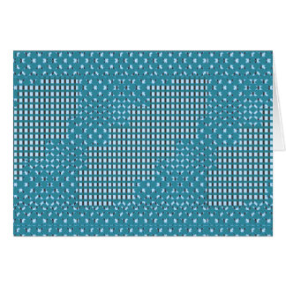 青く青い輝きのスクエアrectパターン低価格の店 グリーティングカード
