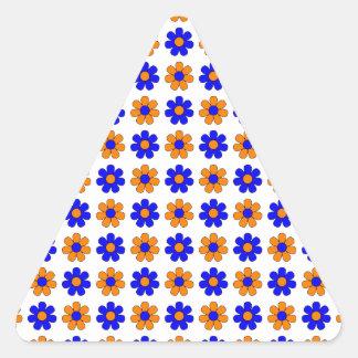 青く、オレンジステッカーを開花します 三角形シール