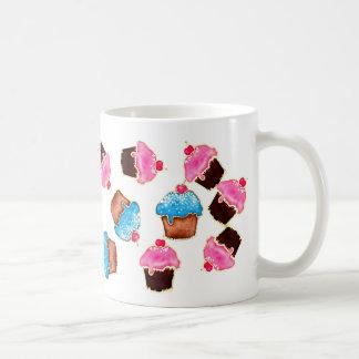 青く、ピンクのカップケーキのマグ コーヒーマグカップ